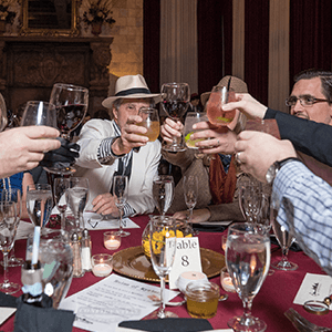 Orlando Murder Mystery guests raise glasses